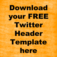 Download your free twitter header template